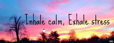 Inhale calm, exhale stress